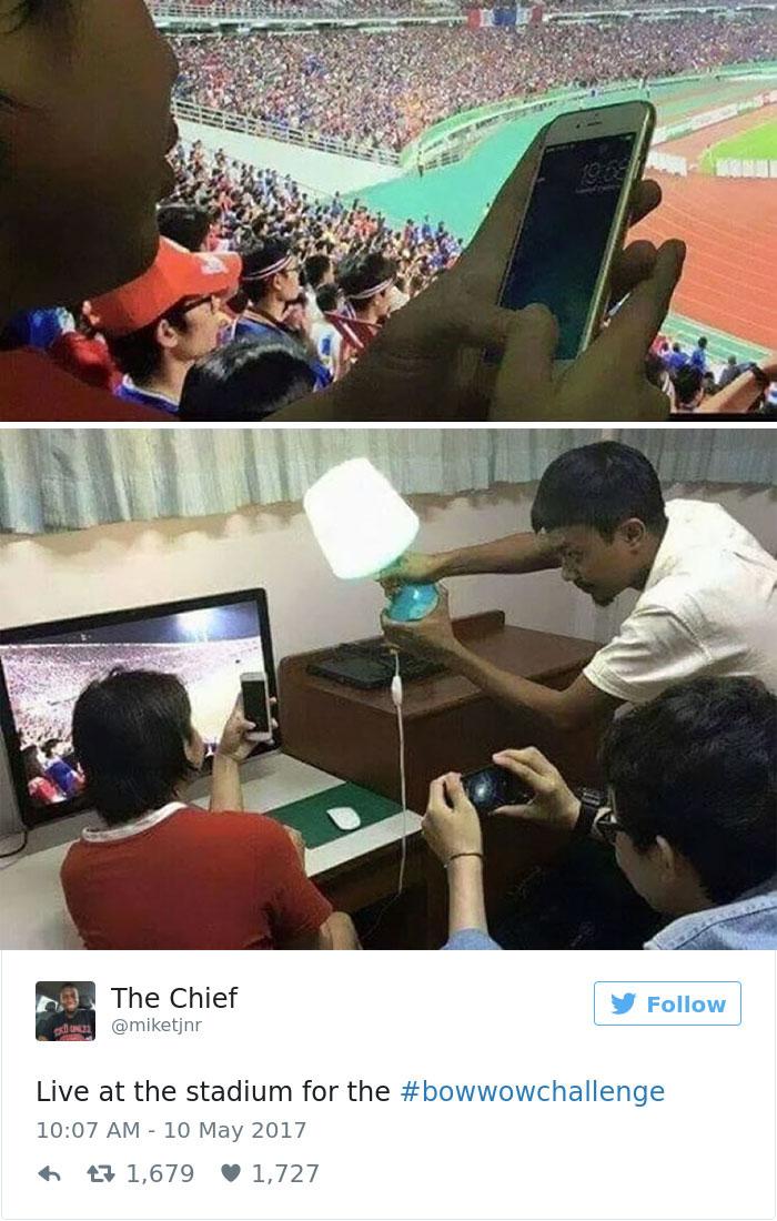 اکنون با شکل گیری چالش #BowWowChallenge عکس های زیادی از دروغ های اینستاگرامی در فضای مجازی منتشر می شود.