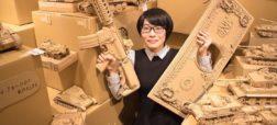 هنرمندی ژاپنی که کارتن های قدیمی را به مجسمه های خارق العاده و شگفت انگیز تبدیل می کند