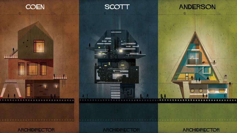 طراحی های زیبایی که خانه کارگردان مشهور را با الهام از فیلم هایشان به تصویر می کشد