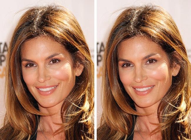 سوپرمدل مشهور آمریکایی یک بار تصمیم گرفته بود که بارزترین مشخصه زیبایی صورت خود که یک خال در گوشه لب هایش است را بردارد، اما منصرف شد. وی در هر دو صورت زیباست اما با حذف آن، دیگر نماد زیبایی خاص خود را روی صورتش ندارد.