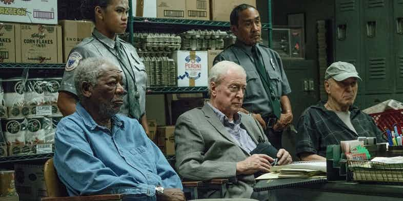 Morgan-Freeman-Michael-Caine-and-Alan-Arkin-in-Going-in-Style