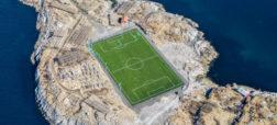 با یک استادیوم فوتبال کاملاً متفاوت، واقع در دل آبهای بی کران، آشنا شوید [تماشا کنید]
