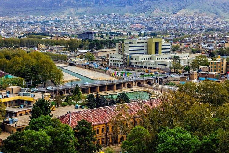 جاذبه های گردشگری لرستان نمایی از خرم آباد