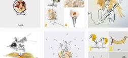 نگاهی به نقاشی هایی که با استفاده از مواد خوراکی کلاژ شده اند