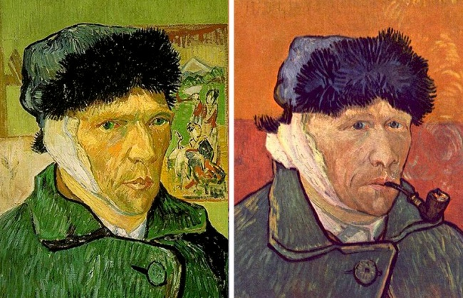 «وَنسان وَن گوگ»، که یکی از تاثیرگذارترین نقاشان قرن نوزدهم به شمار می رود و تقریبا همه آثارش در سبک پُست امپرسیونیسم هستند، در اواخر عمر به شدت از بیماری روانی و فشار روحی رنج می برد. پیرو همین مساله، وی در دسامبر 1888 گوش چپ خود را با تیغ سلمانی برید. تاکنون گفته می شد وی گوش خود را بریده تا به عنوان هدیه ای گرانبها آن را برای معشوقه اش، راشل، ارسال کند. اما واقعیت این است که این واقعه پس از مشاجره ای که با دوستش «پاول گائوگین» داشته، روی داده است و وی به دنبال پشیمانی از این امر یا به ادعای برخی محققان، در اثر جنون، گوش خود را با تیغ بریده است.