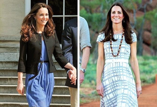 دوشس کمبریج، با اینکه سلیقه لباسی بسیار زیبایی دارد اما ترجیح می دهد یک لباس را در موقعیت های مختلف بپوشد و از برندهای گران قیمت هم خرید نمی کند. به طور مثال، پیراهن آبی و کتی که در تصویر سمت چپ مشاهده می کنید، برای برند مشهور زارا است و لباس سمت راست به مارک هابز تعلق دارد که میدلتون آن را به قیمت 45 دلار خریداری کرده است. علاقه مندی اصلی دوشس میدلتون، انجام امور خیریه است و جدیدترین پروژه ای که در دست انجام دارد، Heads Together است که در زمینه سلامت روانی جوانان، سربازان پیشین جنگ، بی خانمان ها و افرادی که در معرض خطر قرار دارند، فعالیت می کند.