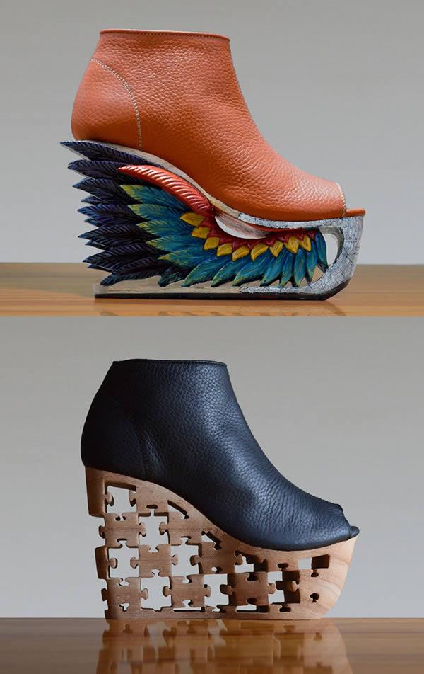 یک کمپانی تولید کفش موسوم به «فشن فور فریدم» نوعی کفش پاشنه بلند زنانه از جنس چرم و چوب تولید می کند که عجیب اما منحصربه فرد هستند. پاشنه های چوبی این کفش ها با تکنیک قدیمی طراحی روی چوب ویتنام، حکاکی و زیباسازی می شوند. کمپانی مذکور، نمونه هایی از این کفش ها را به برخی یتیم خانه ها اهدا می کند. همچنین، مواد اولیه ای که اضافه آمده اند را نیز به صورت رایگان در اختیار مدارس قرار می دهد. با این حساب با خریداری آن ها، به نوعی در انجام کار خیر هم شرکت خواهید کرد.