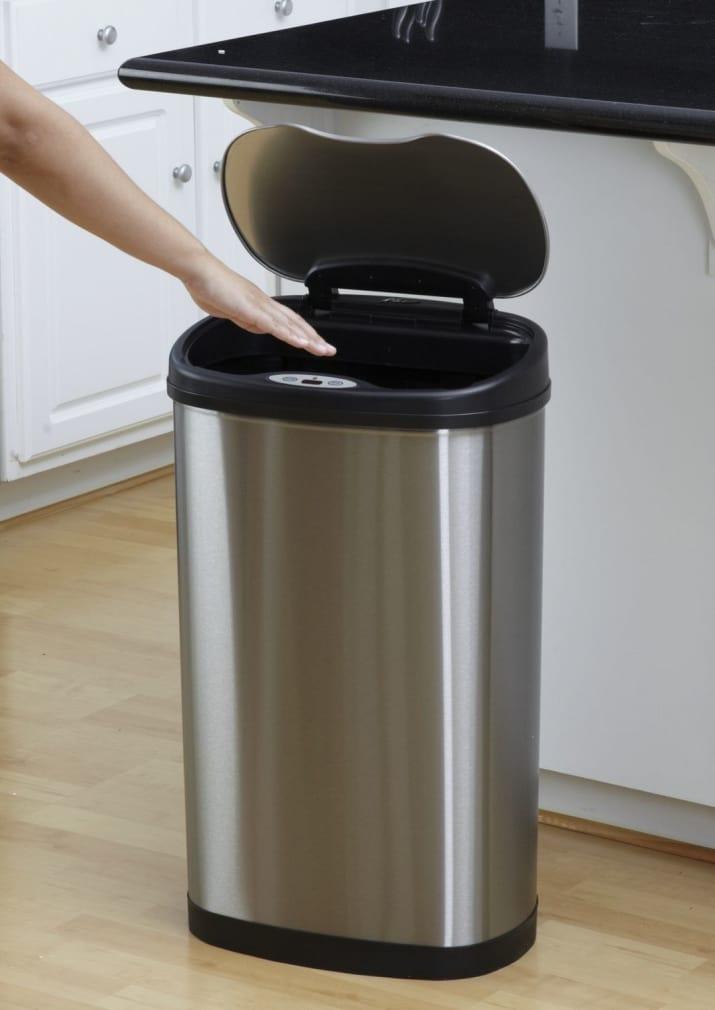 سطل زباله هوشمند با حسگرهای حرکتی