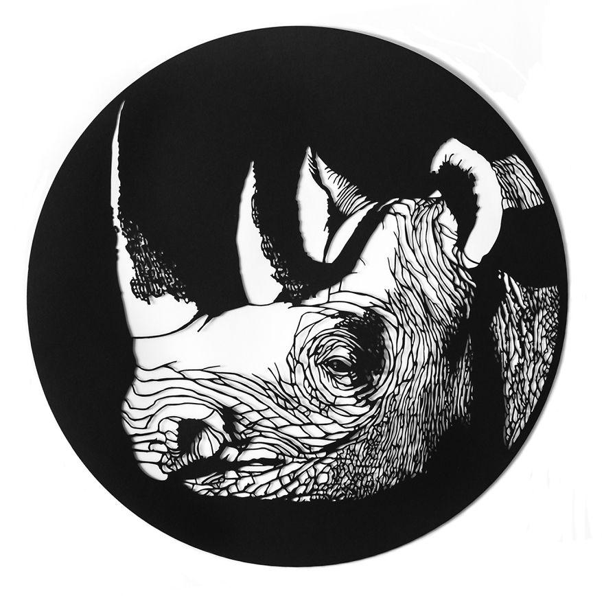 کرگدن سیاه غربی (منقرض شده)