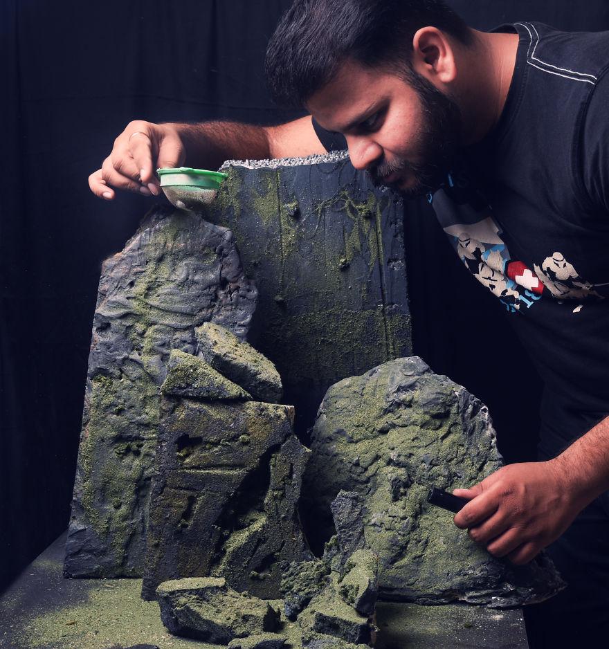 پشت صحنه ساخت مدل غار