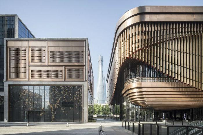 مرکز تجاری باند؛ مجتمعی لوکس با معماری سنتی چینی و نمای خارجی متحرک در شانگهای [تماشا کنید]
