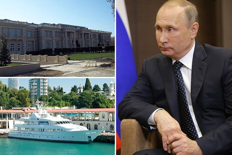 ولادیمیر پوتین ثروت خود را صرف چه کارهایی می کند؟