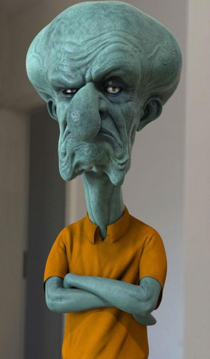 realistic-cartoon-characters-3d-real-,شخصیت های معروف کارتونی