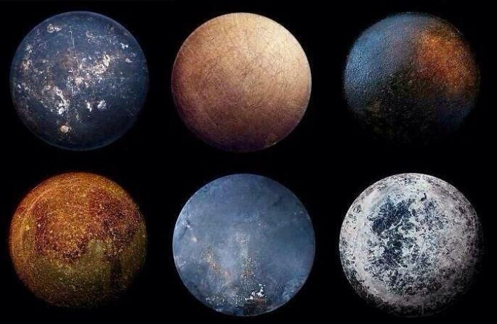 این ها سیاره های منظومه شمسی نیستند، بلکه کف تابه های سرخ کردنی است.