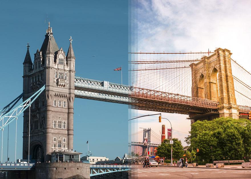 تاور بریج در لندن / پل بروکلین در نیویورک