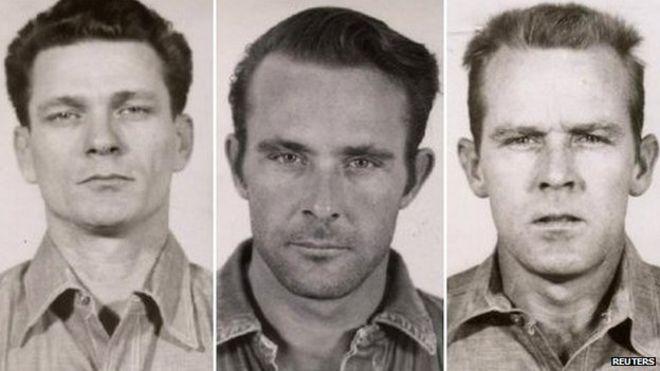 f Frank Morris, John Anglin and Clarence Anglin