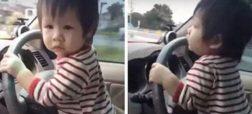 وقتی فیلم رانندگی کودک ۱۰ ماهه، خشم مردم تایلند را برانگیخت [تماشا کنید]