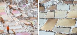 نگاهی به تصاویر بی نظیر حوضچه های تبخیر نمک در کشور پرو