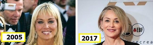 شارون استون رمز جذابیت خود را تغذیه مناسب، ورزش مداوم و نگهداری از پوست اعلام کرده است و به جراحی های زیبایی برای پنهان کردن سن خود نیز علاقه ای ندارد.