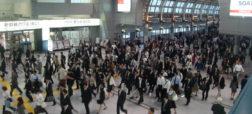 ویدیو تایم لپسی جالب و باورنکردنی از شلوغی یک ایستگاه قطار در ژاپن [تماشا کنید]