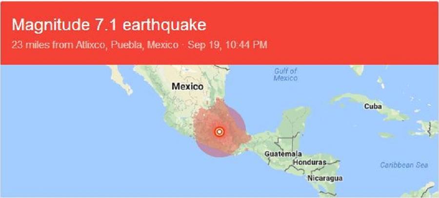 شمار کشته ها در زلزله مکزیک به بیش از ۲۲۰ نفر رسید