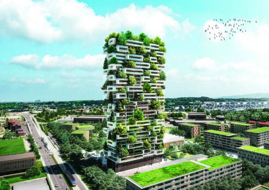 جنگل های بالارونده؛ آپارتمان هایی جدید که به جنگ آلودگی هوا می روند [تماشا کنید]