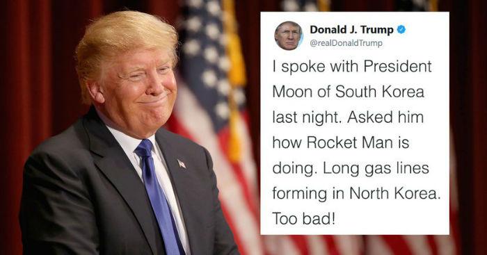 «مرد موشکی»؛ لقب جدید دونالد ترامپ برای رهبر کره شمالی که سوژه کاربران توئیتر شد