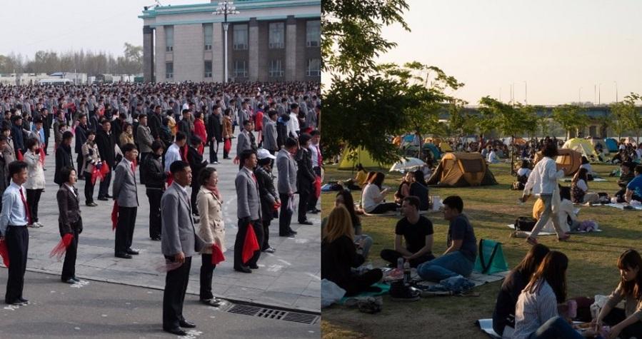 عکس هایی که نشان می دهند کره شمالی و کره جنوبی به شدت با هم فرق دارند