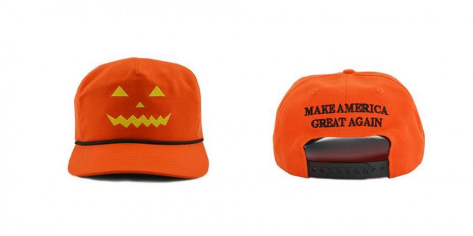 دونالد ترامپ برای جشن هالووین کلاه می فروشد و مردم او را مسخره می کنند