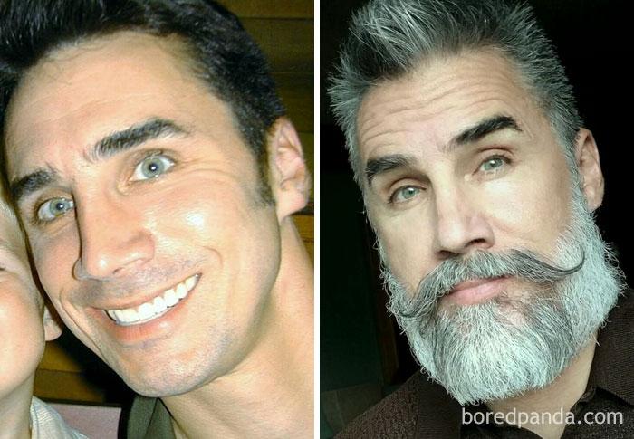 چهره مردان با ریش و بدون ریش