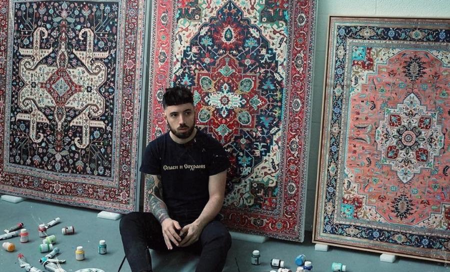 آشنایی با خالق آمریکایی نقاشی هایی به سبک فرش ایرانی