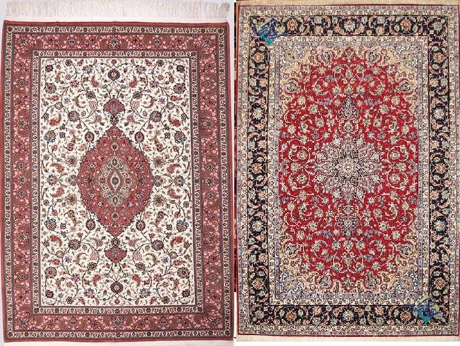 عکس سمت راست، شش متری دستبافت اصفهان طرح لچک ترنج است