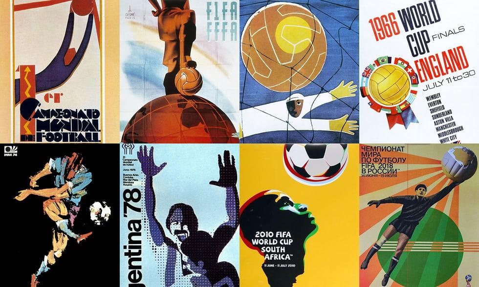 نگاهی به پوسترهای جام جهانی فوتبال از ابتدا تاکنون
