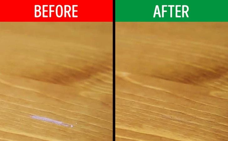 برطرف کردن خراش از سطح شیشه و چوب