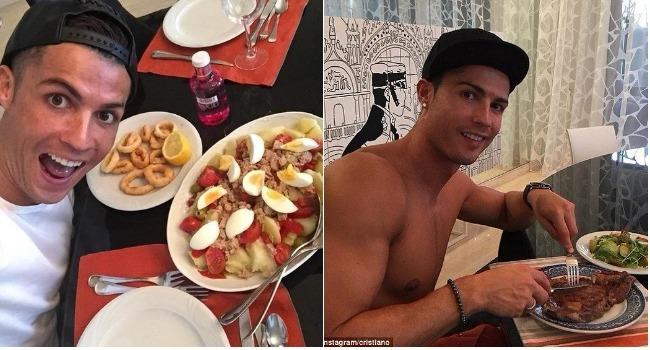 رژیم غذایی کریستیانو رونالدو