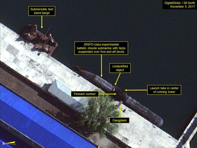 Satellite imagery of North Korea's Sinpo B class missile submarine. روزیاتو: ۷ کشور قدرتمندی که دارای ناوگان زیردریایی با قابلیت حمل موشک بالستیک هستند اخبار IT
