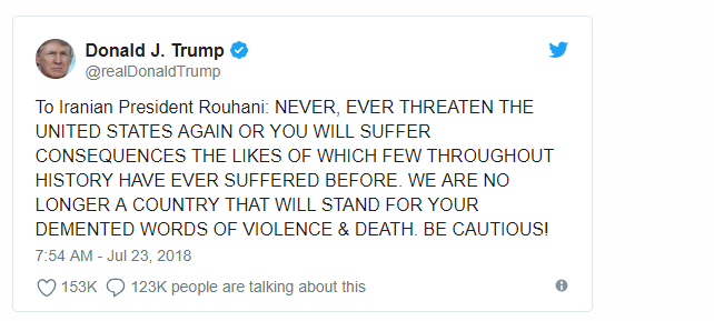 توییت دونالد ترامپ