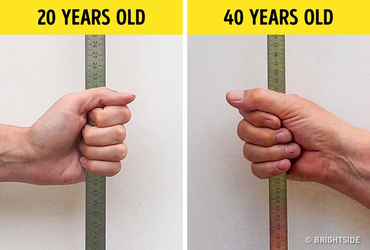 10 نشانه پیری در بدن