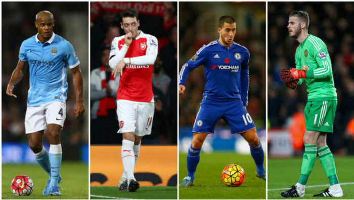 ۲۵ بازیکن لیگ برتر انگلیس که بیشترین دستمزدهای هفتگی را دریافت می کنند
