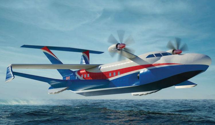 پرنده غول پیکر جدید روسیه به نام «هیولای اورلان» با قابلیت پرواز از روی دریا