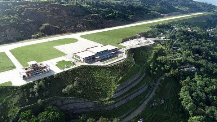پاکیونگ؛ جدیدترین فرودگاه هند در ارتفاع ۴.۵۰۰ پایی کوه های هیمالیا