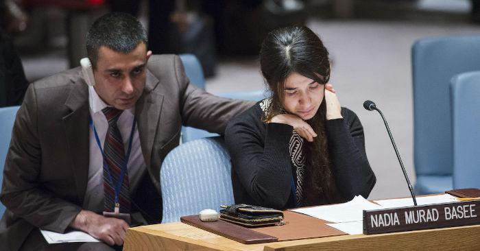 نادیا مراد برنده جایزه صلح نوبل