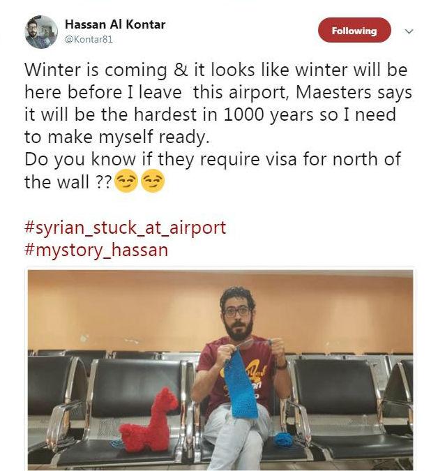 حسن القنطار سوری در فرودگاه کوالالامپور