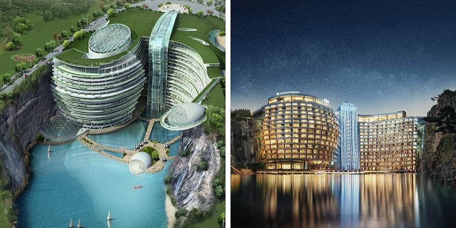 گشتی در «سرزمین عجایب»؛ هتل زیرزمینی جدید چین که درون یک معدن ساخته شده