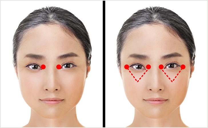 از بین بردن چروک دور چشم ها و جوانسازی صورت