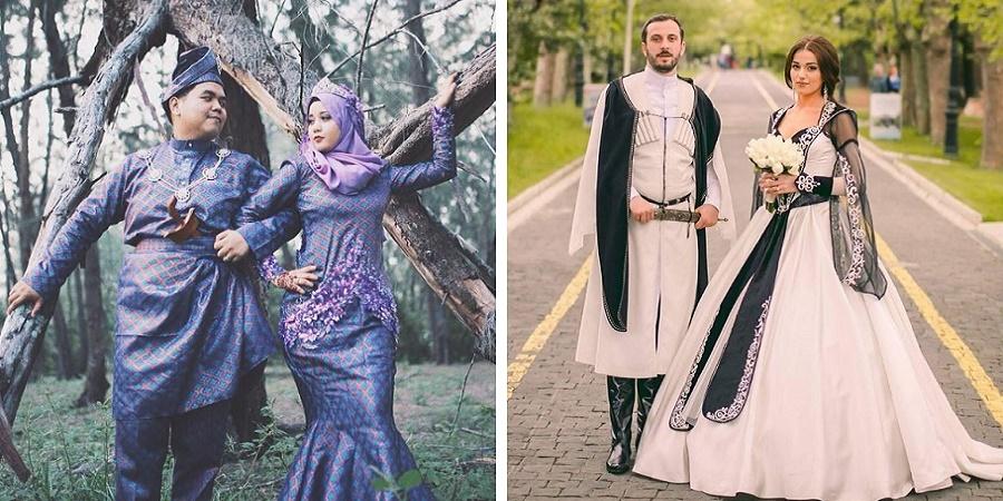 نگاهی به لباس های سنتی عروس و دامادها در کشورهای مختلف دنیا