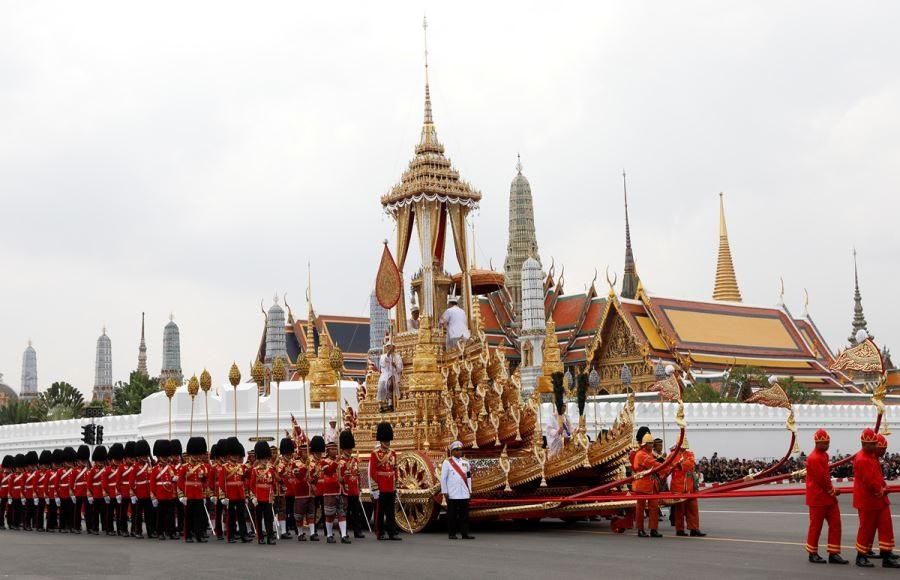 روایتی مصور از تشییع جنازه پادشاه تایلند