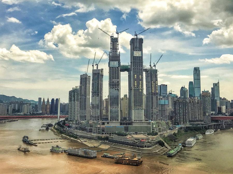 ساخت آسمانخراش افقی در چین