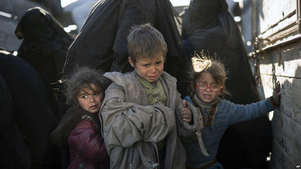 بچه های ایزدی آزاد شده از دست داعش