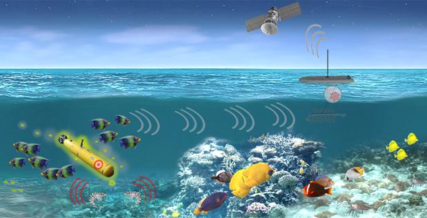 کشف زیردریایی با استفاده از سونار